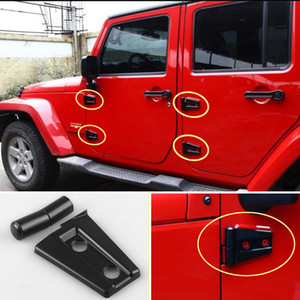 8 pezzi / set coperchio cerniera porta per Jeep Wrangler JK Unlimited 4Door 2007- 2017