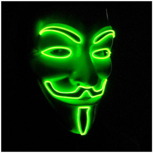 Halloween Mask Flashing Mask LED Light Up The Glowing Great Funny Masks Festival Cosplay Costume Supplies Glow In Dark ST003