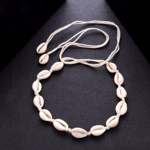 Bohemian Beach Tassel Necklace Natural Sea Shell Choker Chain Necklace Collar Boho Women Summer Beach Jewelry Shellhard