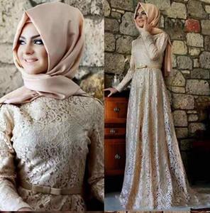 Вечерние платья с кружевными вечерними платьями с длинными рукавами и длинными рукавами на Ближнем Востоке Арабские платья для матери невесты