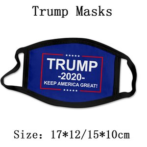 Trump Masque réutilisable 2020 américain Élection anti-poussière lavable Masque respirant Masques Flag USA Livraison rapide