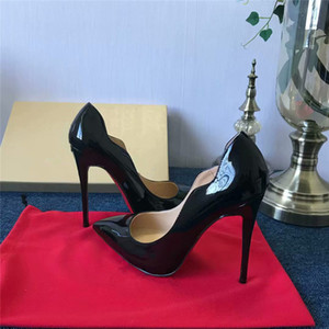 Free shipping, so Kate's 8cm 10cm 12cm black nude leather pointy-toe pump wedding shoes