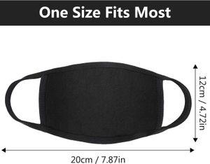 Дизайнер Регулируемой маска против пыли лица черного хлопок для велоспорта кемпинг путешествия, 100% хлопок моющейся многоразовой ткани маски