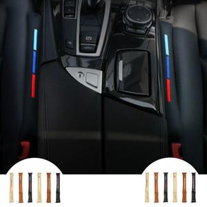 2pcs Universal UseFaux cuir auto Siège d'auto Gap Filler Pad Spacer stockage fente pour BMW Série Plug-E90 F30 Audi Mercedes Tous les véhicules