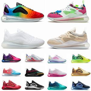 720 OBJ zapatos para correr para hombre de las mujeres Platino metálico Zapatos rosa mar triples blancos negros 720S Chaussures Hombres entrenador deportivo zapatillas de deporte
