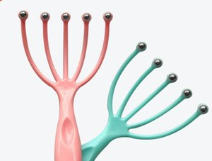 Скальп шеи SPA Stress Relief релиз врач Оборудование Five Finger Head Relax Массажер лапка Octopus Head Care