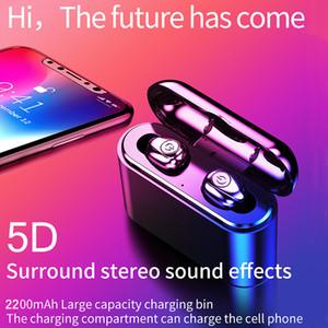 X8S TWS verdadera inalámbrico auriculares estéreo 5D X8 Bluetooth Auriculares Mini TWS Headfrees impermeable con 2200mAh banco de la energía Auriculares