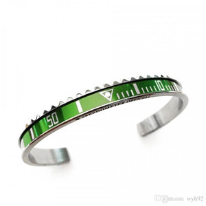 2020 hot sell bangles mixed style stainless steel bangles bracelet manchette open bracelet initial cuff bangle speedometer bracelet SP01