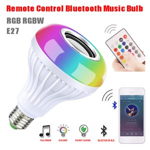 Bluetooth LED Light Bulb Speaker Music Playing Audio with Sound Function Smart Light Lamp Speakers For Fun with Remote Control