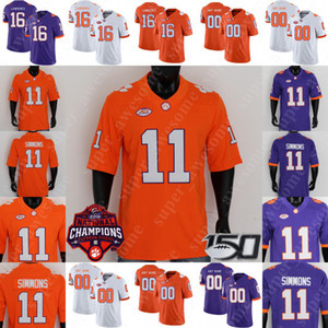 Custom Clemson Tigers Football Jersey Trevor Lawrence Travis Ethienne Amari Rodgers Isaiah Simmons Tee Higgins Hunter Renfrow deshaun Watson