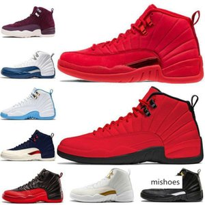 20New Gym Red 12 12s Mens Basketball Shoes Bulls Bordeaux flu game College the master Playoffs PSNY Michigan Sports Sneakers