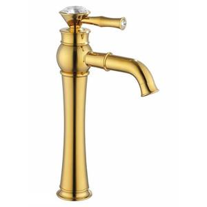 Rolya Luxuriöse Golden Hohe Körper-Bassin-Hahn-Toilette-Badezimmer-Behälter-Hoch-Bassin-Wannen-Mischer Taps