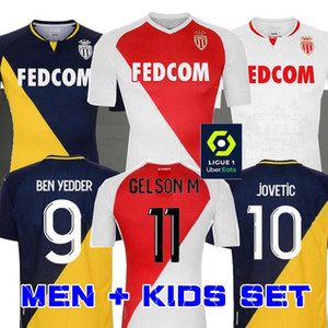 2020 2021 FABREGAS AS Monaco BEN YEDDER Maillots de football JOVETIC GOLOVIN 20 21 maillot de pied Flocage JORGE Hommes Shirt Enfants Football