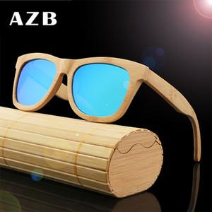AZB бамбук дерево поляризованные очки деревянные очки FORMEN и женщины большой кадр очки ретро солнцезащитные очки ZA78