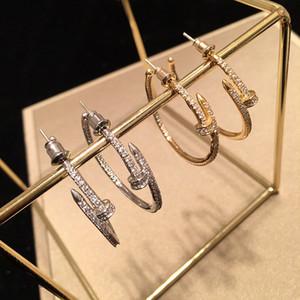 orecchini 2019 delle donne nuovi chiodi grandi orecchini cerchio moda orecchini di zircone 925 gioielli in argento ago design di lusso all-ingrosso coreana