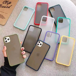 Contrast Color Matte TPU + PC Skin-friendly Cover Case For iPhone 11 Pro Max XR XS Max 6 7 8 PlUS