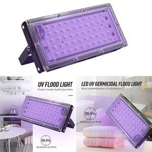 50W LED Projektör UV antiseptik Lambası Ev UV Işıklar UVC Sterilizatör Ultraviyole Dezenfeksiyon Lamba Spotlight Açık Bahçe Projektör