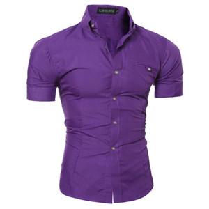 Printemps et été Hommes Chemises Robe classique manches courtes hommes Designer Noir Blanc T-shirts M-3XL