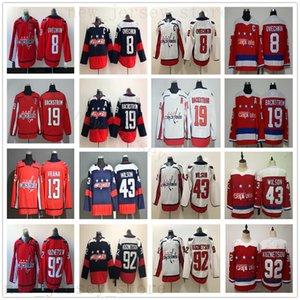 2020 New Washington Capitals 13 Jakub Vrana Jersey Hockey sobre hielo 8 Alex Ovechkin 92 Evgeny Kuznetsov 19 Nicklas Backstrom 43 Tom Wilson Jerseys
