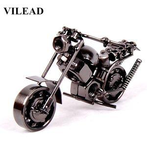 """Figura de acción 14 cm (5.5 """") Modelo de Motocicleta Retro Motor Estatuilla Decoración de Metal Hierro Motocicleta Prop Vintage Home Decor Kid Toy"""