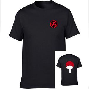 Hot Moda Últimas Anime Camiseta T-shirt de manga curta Naruto para mulheres dos homens Unisex O Neck-shirts topos Uchiha família de marcas