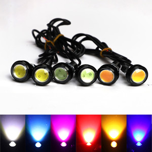 23MM 18 MM Car Eagle Eye DRL Led luzes diurnas LED 12V backup Invertendo Estacionamento Signal Parafuso em parafuso Automobiles Lâmpadas DRL