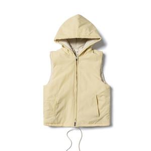 Mens Designer Vestes Gilet Mode Marque FOG Réchauffez capuche en coton sans manches Vestes High Street Casual Outwear Noir Blanc S-XL
