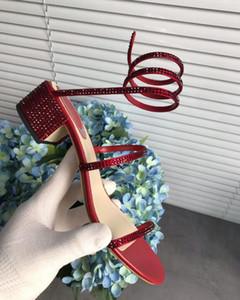 5 CM Yüksek Kadın takozlar sandalet Sihirli boncuk ışık koyun deri Rene lady Kuşak rhinestone Ayakkabı Sandal Femininas 35-40