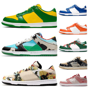 Dunk sb Trainer Men Women SB DUNK white off Shoes Casual Running Shoes Sports VALENTINE Chunky Dunky Safari Sneakers Sports Black Blue Green