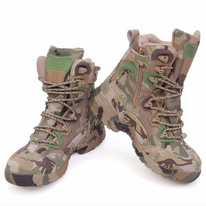 ESDY 6.0 army tactical sneakers desert cowhide Breathable boots Delta commandos camouflage black outdoor hiking shoes