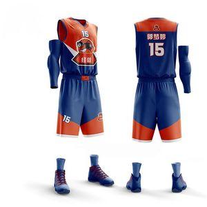 Professional Basketball Jerseys Sports clothing 2019 Men Kids Shirt + Shorts Uniforms Set Breathable Customized Training suits
