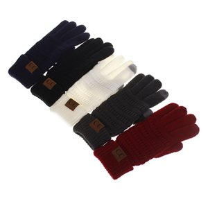 2018 CC winter warm new hot Europe and the United States adult wool knitting full finger gloves touch screen gloves