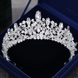 Cristal de lujo con cuentas de la boda tocados envío gratis accesorios nupciales baratos BridalTiaras coronas Wedding Party WEar Headpiece