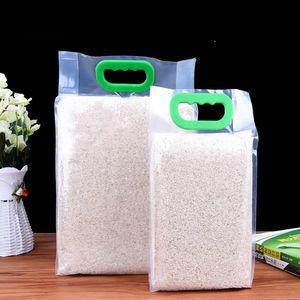 Прозрачная пластиковая упаковка рисового зерна мешки пищевой вакуумный мешок большой мешок кухня хранения карман organzier LX1783