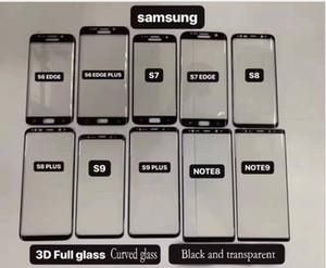 تنطبق على سامسونج 3D منحني سطح تشديد الشاشة لسامسونج S8 S9 s8plus s9plus note8 note9 S6 حافة حافة S7