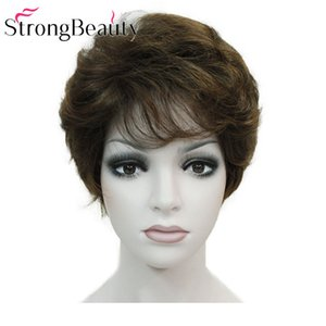 Synthetic Classical Short Curly Natural Blond Brown Wigs Capless Women Wig