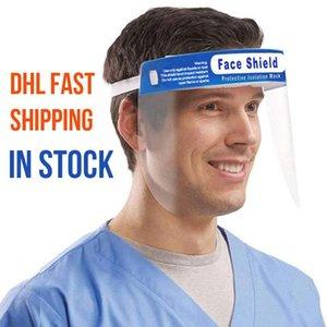 Livre DHL face escudo anti-fog máscara protetora HD transparente à prova de crianças Criança completa Rosto Oil-respingo máscaras contra poeira proteção segura