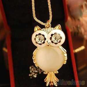 Halsketten Anhänger Strass Anweisung Hot Snowflake Shape Eye Owl Anhänger Halskette Lange Ketten Halskette Anhänger