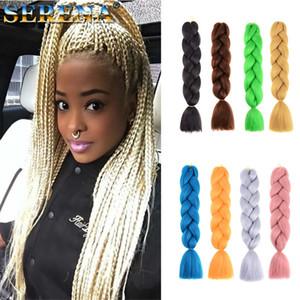 джамбо Xpression плетение волос косы волос 24inch 100g одного цвета Ультра Braid Премиум KANEKALON Синтетический плетения волос расширения