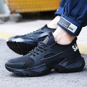Lizeruee Chaussures de sécurité au travail 2019 Baskets à la mode Base ultra-légère pour hommes Respirant Anti-smashing Bottes de travail en acier F025