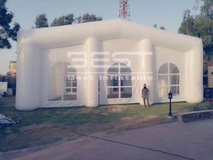Decoración de exposiciones partido del acontecimiento tienda inflable de carpa para la exposición de la boda utiliza tienda de la bóveda inflable construcción de encargo del precio de fábrica