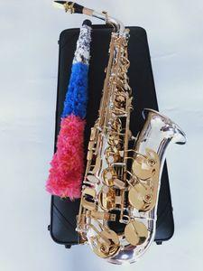 Yanagisawa Profesional Marca New Japan Saxofón Alto Llave de Oro Super Top la mejor calidad A-W037 Sax Con el caso de la caña de boquilla