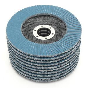 10 Adet Flap Zımpara Diski 125mm 40/60/80/120 İrmik Yuvarlak Zımpara Zımpara Kağıt Diskleri 5 inç Taşlama Tekerlekleri Flap Diskler
