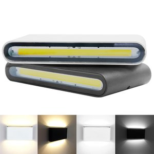 Im Freien wasserdichten IP65 Wandleuchte 6W 12W COB-LED Wandleuchte Modernen Indoor Outdoor-Dekor-Up Down Dual-Head Aluminium Wandleuchte