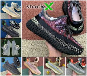 Top qualidade 2020 New estática 3M reflexiva Yecheil sapatos baratos Belgua 2.0 Semi Shoe congelado amarelo Kanye West Preto verdadeira forma Sneakers