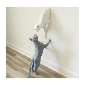 Nórdico casa gato decoração da parede pingente de papel simples arte artesanal DIY criativa decoração de interiores decoração da parede lembrança do presente personalizado