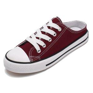 SJJH femmes Toile Skateboard confortable Sneakers vulcaniser Casual Chaussures Chaussures Femme Chaussure D221 MX200425