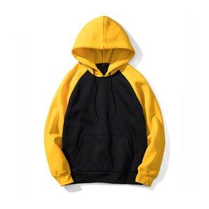TFETTERS Moda Marka Hoodie Erkekler 2019 İlkbahar Sonbahar Erkek Kazak Streetwear Hoodie Kazak Erkekler Splice Kapşonlu AB Boyutu
