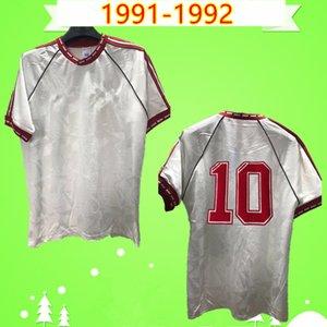 1991 1992 RETRO MANCHESTER FOOTBALL SHIRTS UNITED 91 92 away white Vintage soccer jerseys MAN UTD Paul Ince Robson Hughes Camiseta
