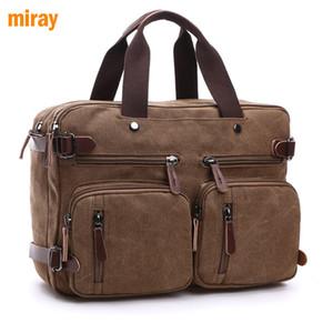 В наличии Scione мужчины холщовая сумка кожаный портфель дорожный чемодан Посланник плечо тотализатор задняя сумка большой повседневный бизнес ноутбук карман
